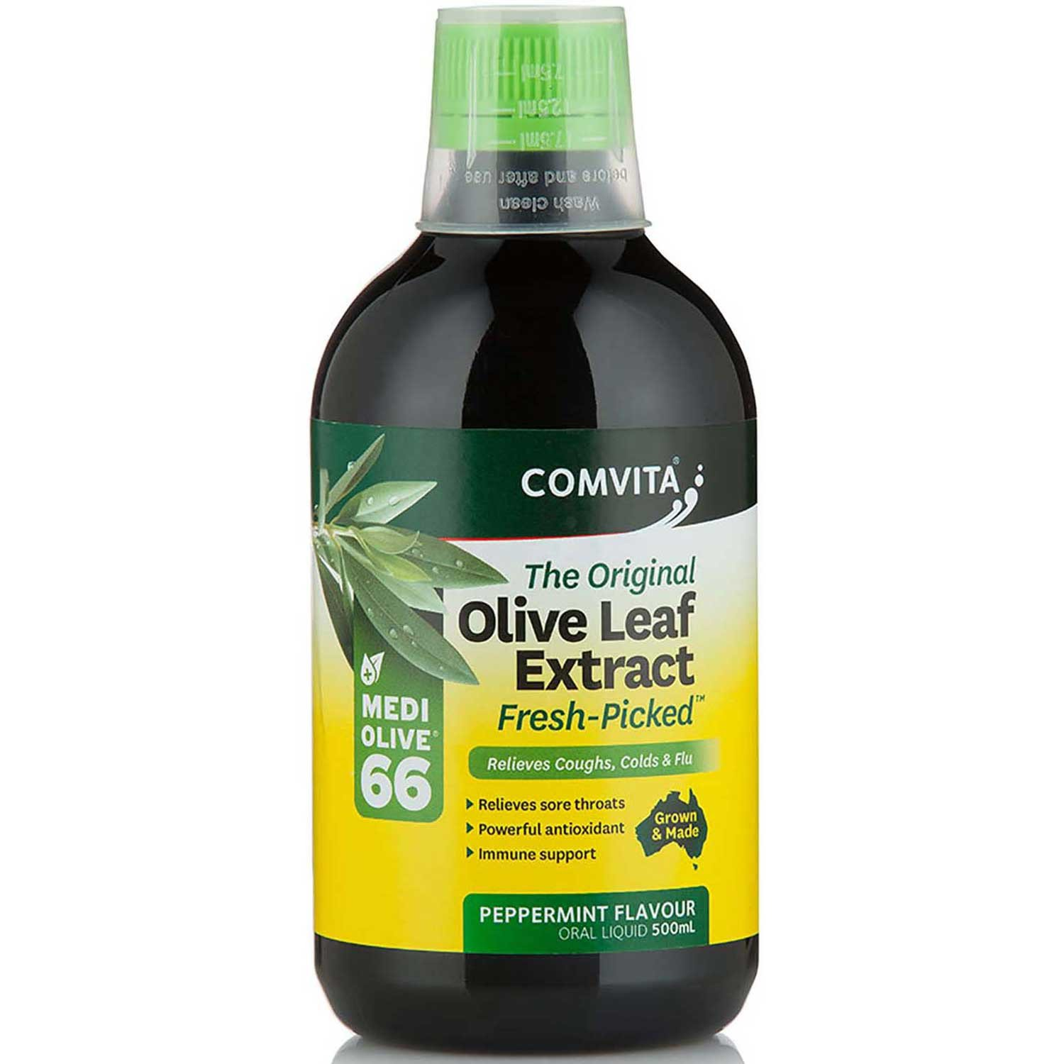 Comvita Olive Leaf Extract - Peppermint Flavor, 500 ml