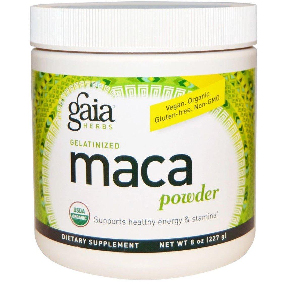 Gaia Herbs Organic Gelatinized Maca Powder, 227g
