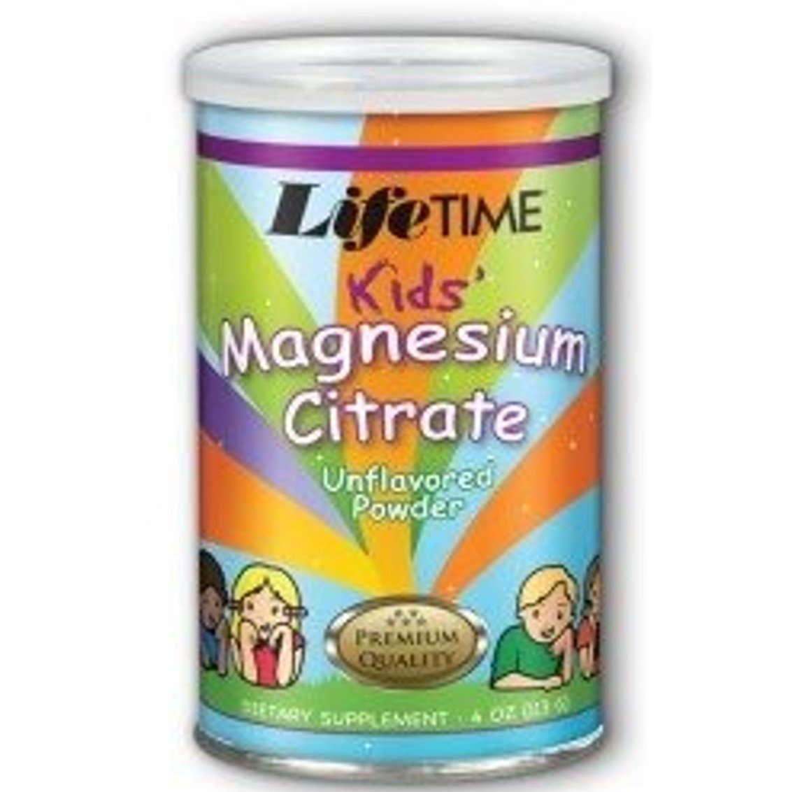 Lifetime Kids' Magnesium Citrate - Unflavoured powder, 113g