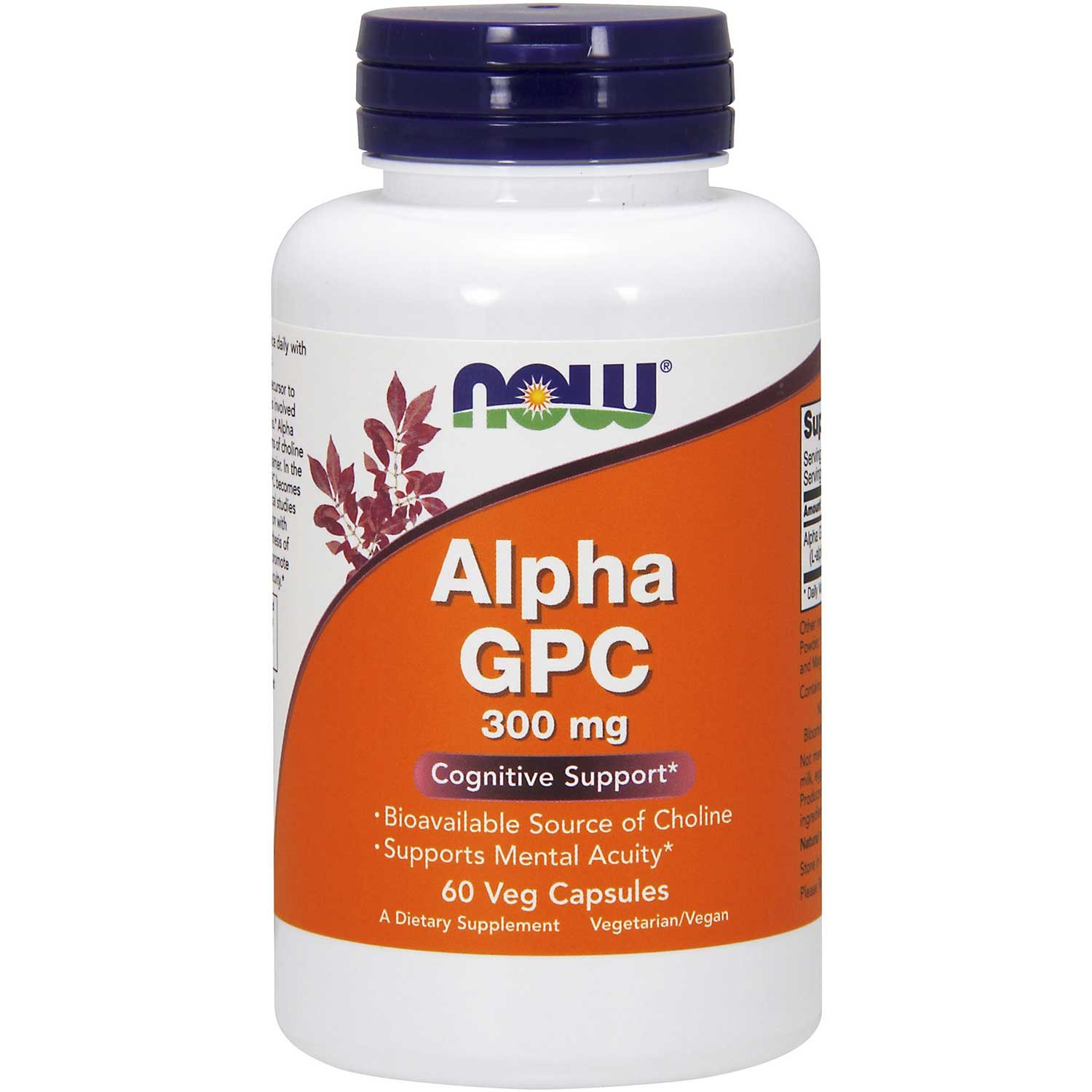 NOW Alpha GPC 300 mg, 60 Vcaps