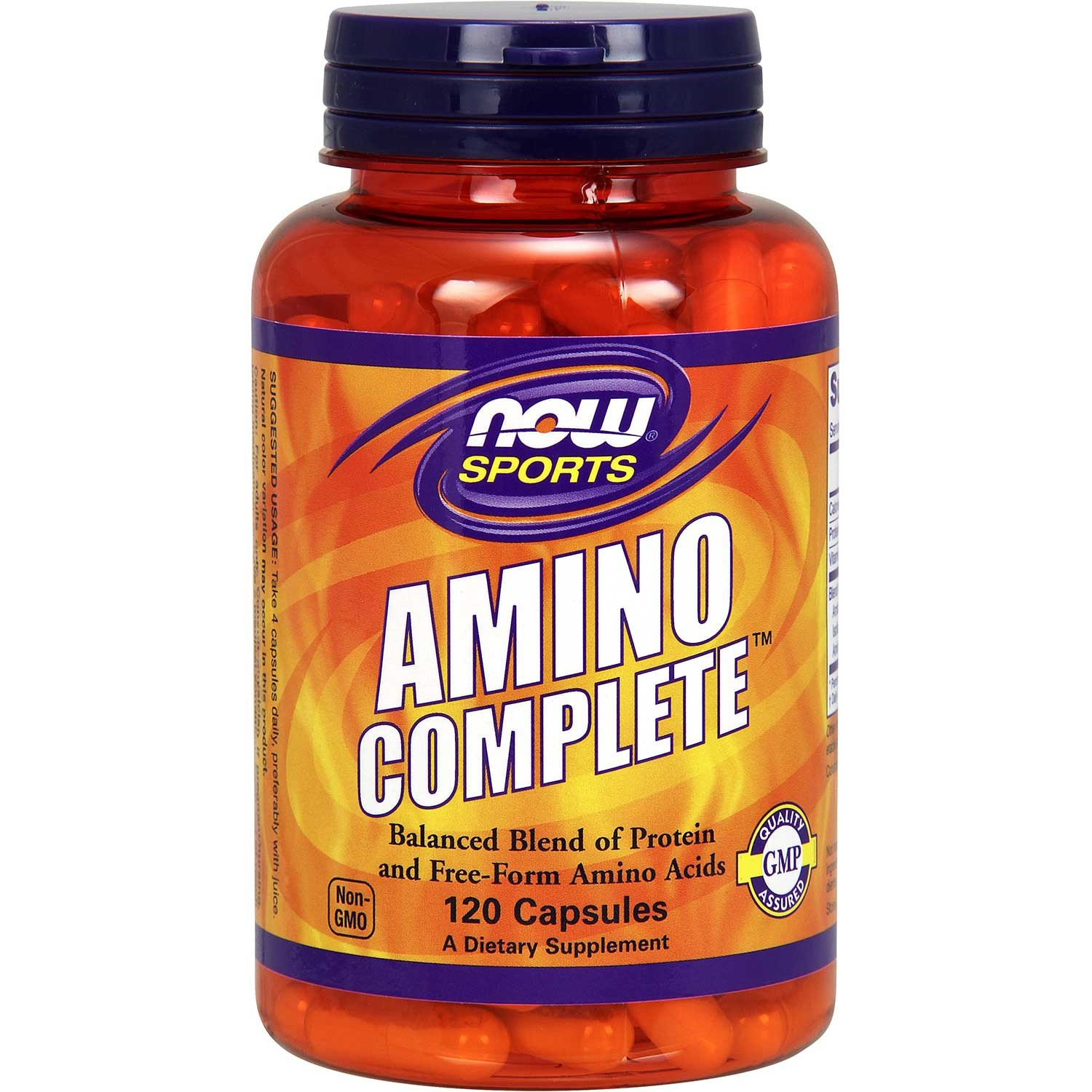 NOW Amino Complete Balanced Blends of Amino Acids, 120 caps