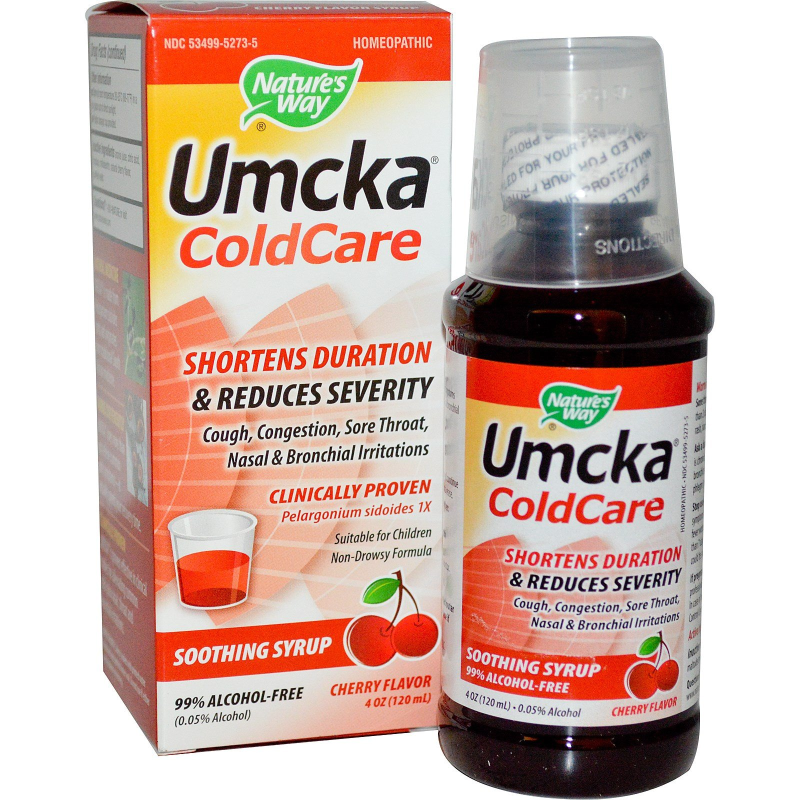 Nature's Way Umcka ColdCare - Cherry Flavor, 120 ml