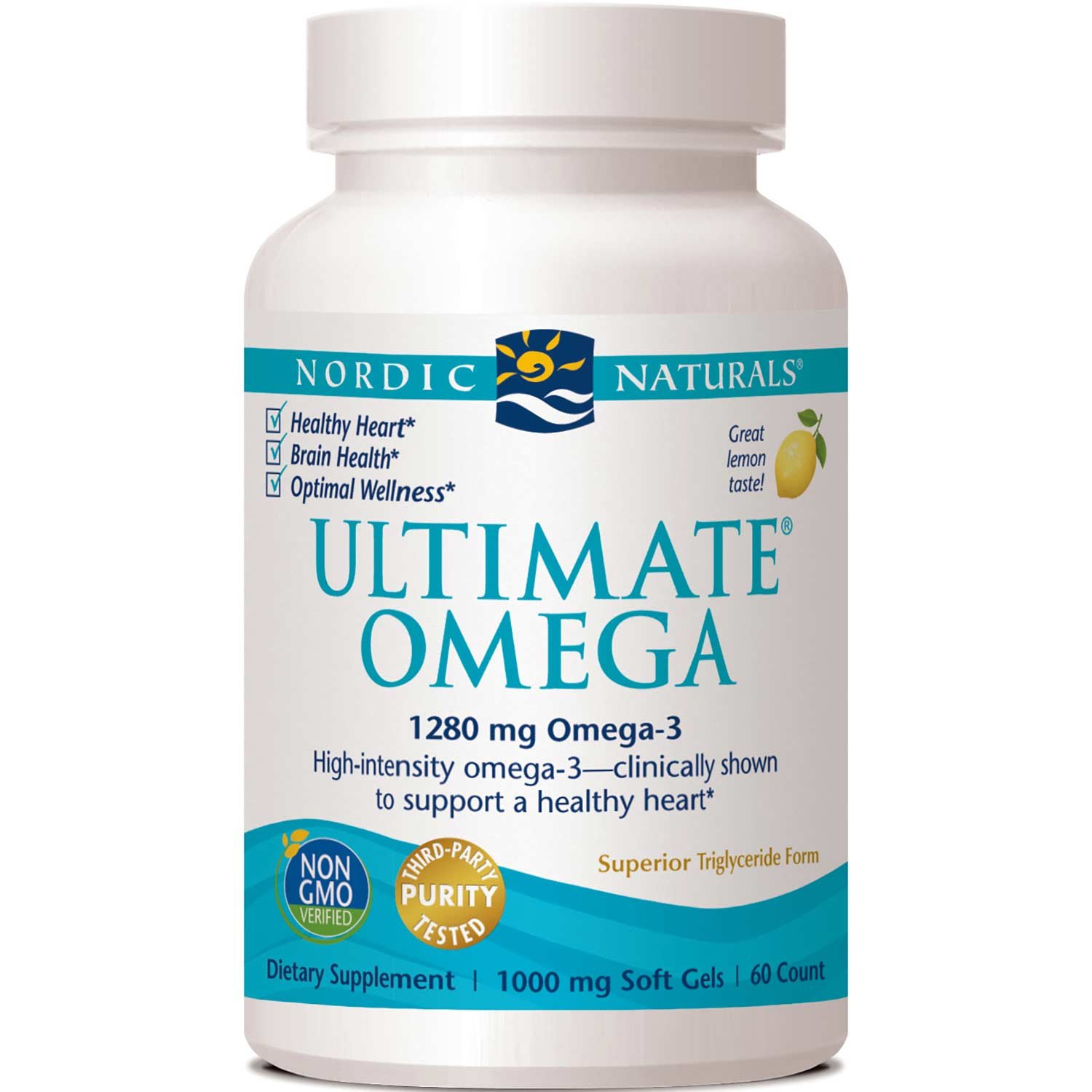 Nordic Naturals Ultimate Omega 1000 mg - Lemon, 60 sgls