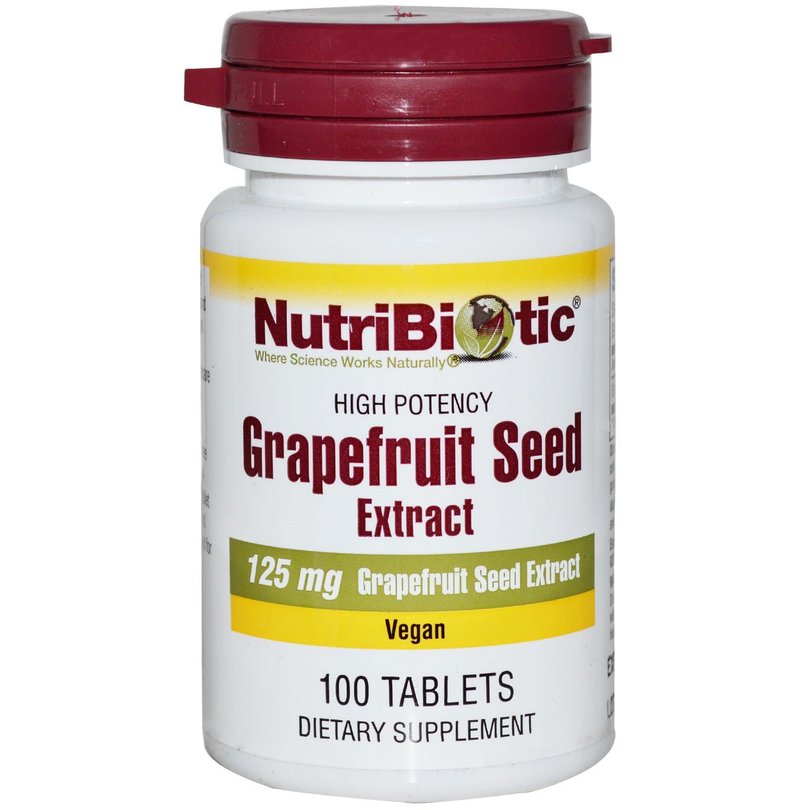 Nutribiotic Grapefruit Seed Extract High Potency, 125mg, 100 tabs