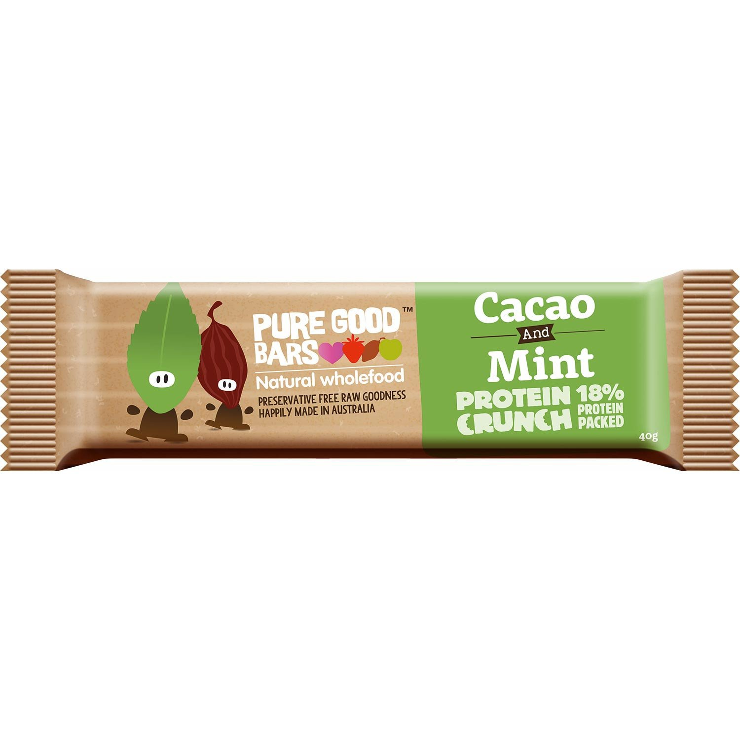 Pure Good Bars -Cacao & Mint Protein Crunch, 40g