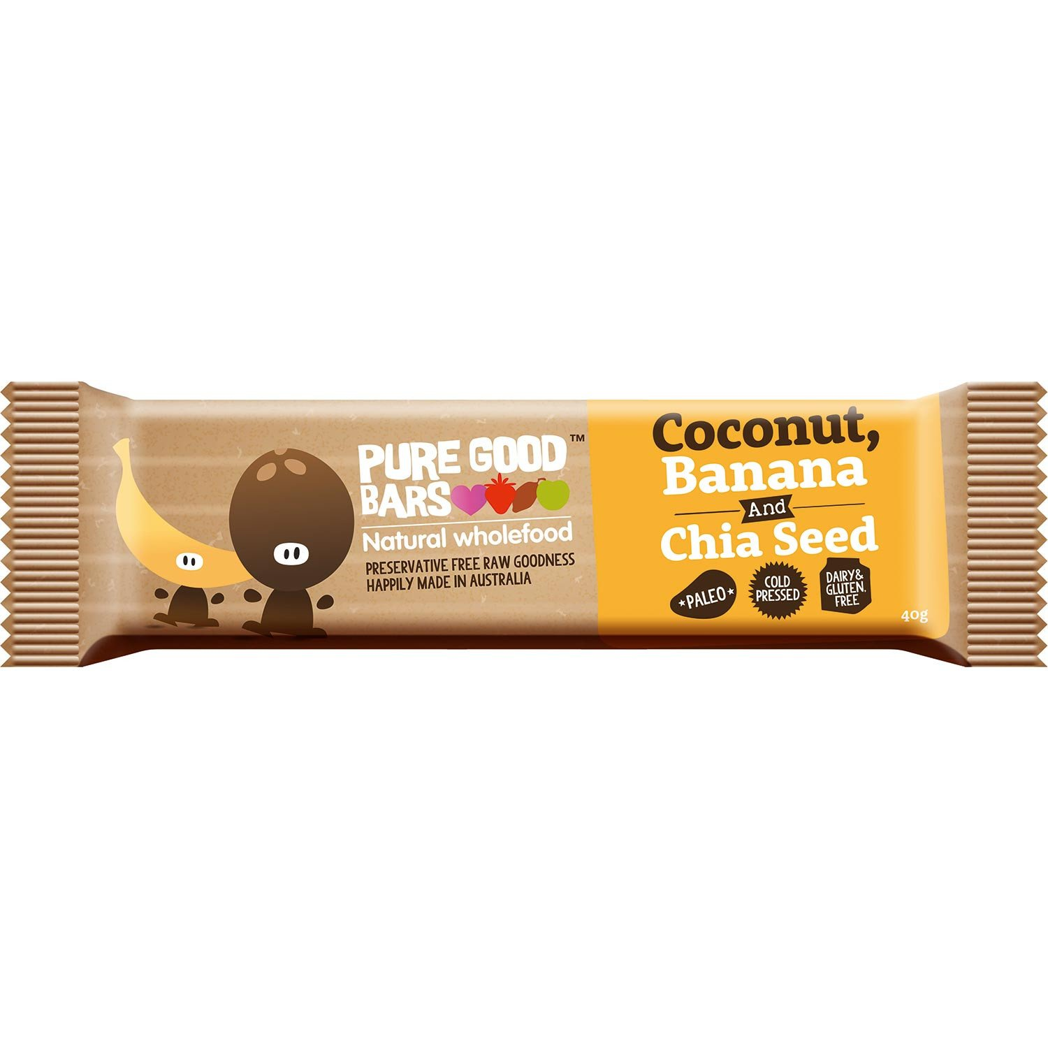 Pure Good Bars -Coconut, Banana and Chia Seed, 40g