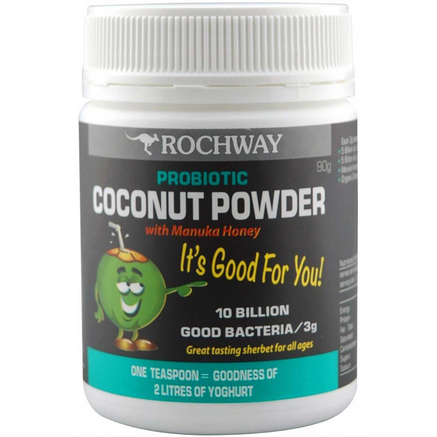 Rochway Coconut Powder w/ Manuka Honey Probiotic, Powder, 90g