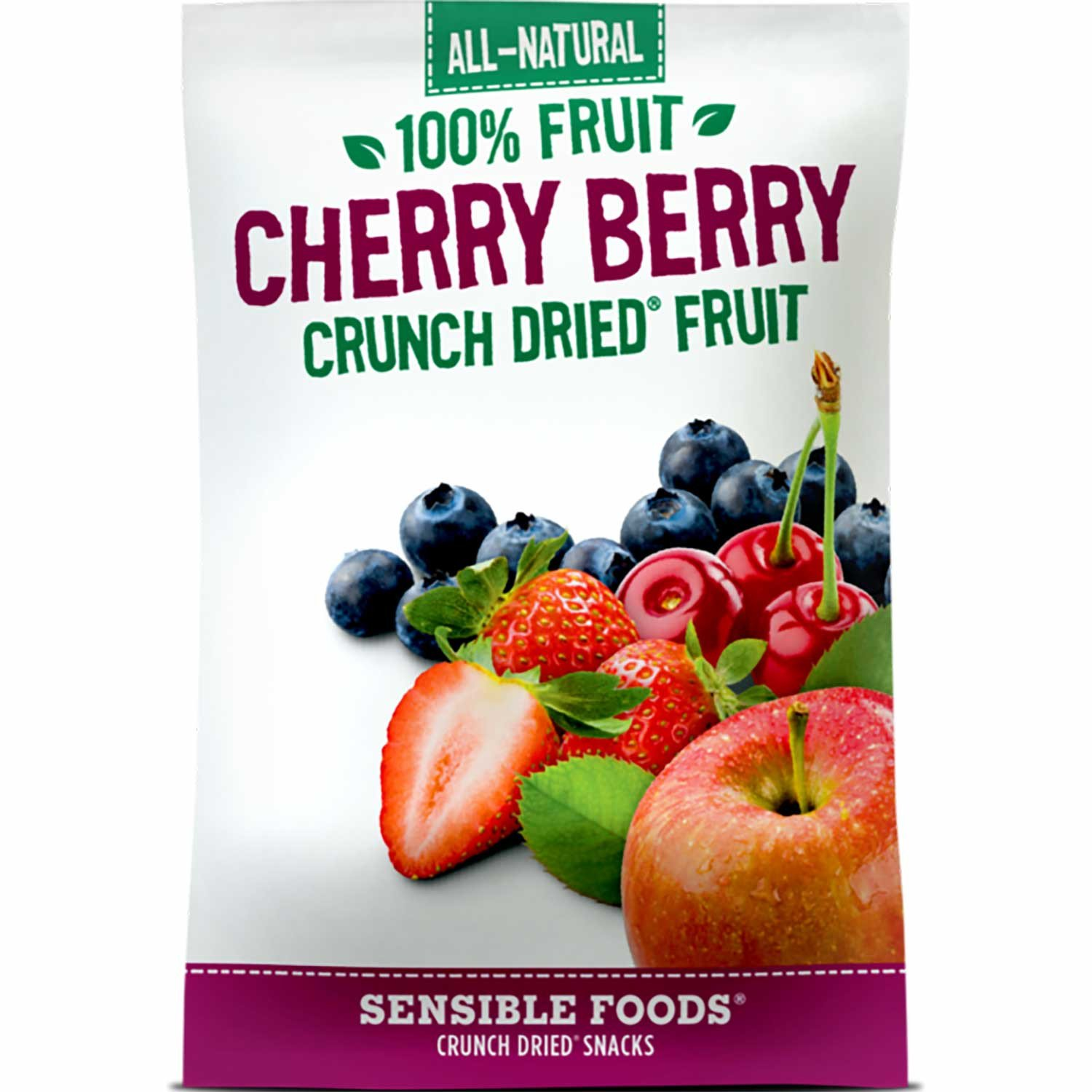 Sensible Foods All-Natural 100% Fruit Cherry Berry Crunch Dried Fruit, 10g