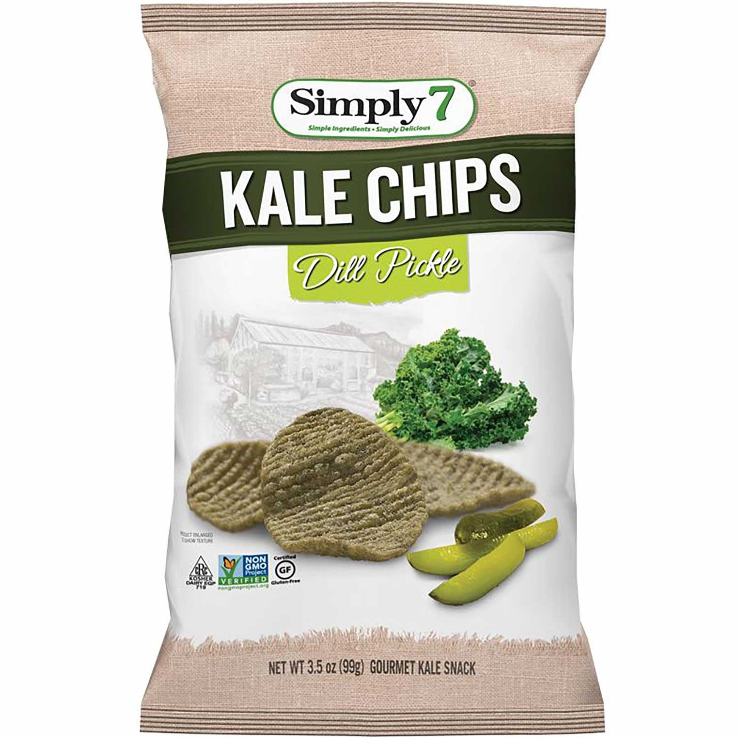 Simply 7 Kale Chips - Dill Pickle 99g