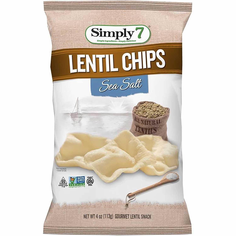 Simply 7 Lentil Chips - Sea Salt, 113 g