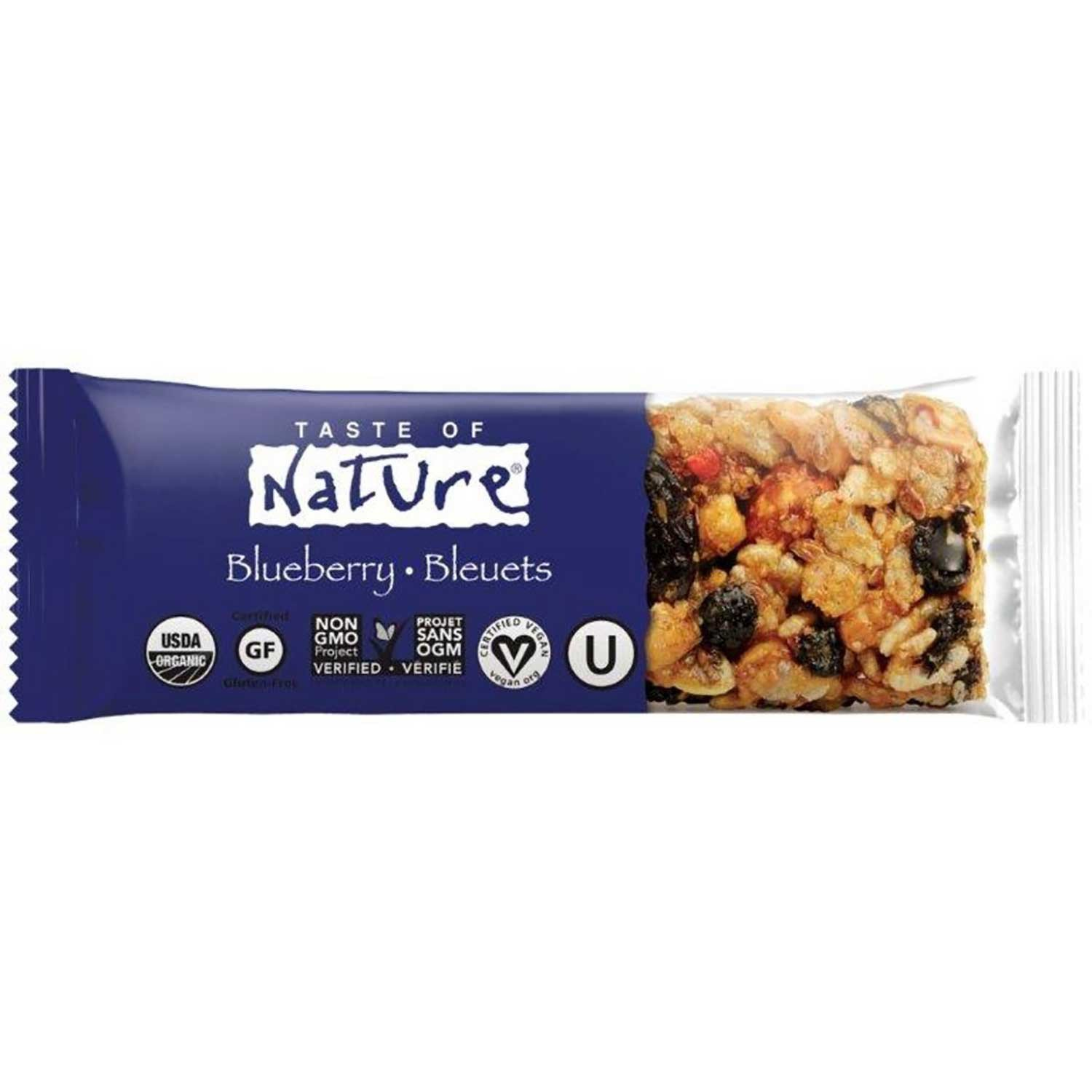 Taste of Nature Organic Food Bar - Blueberry, 40g