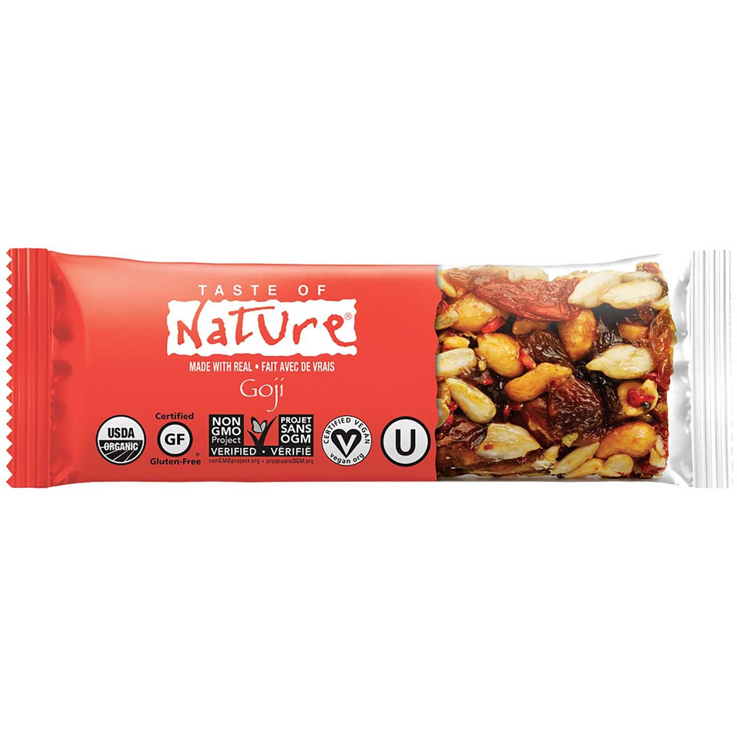 Taste of Nature Organic Food Bar - Goji, 40g