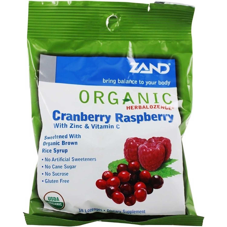 Zand Organic Cranberry Raspberry Herbalozenge, 18 lozs