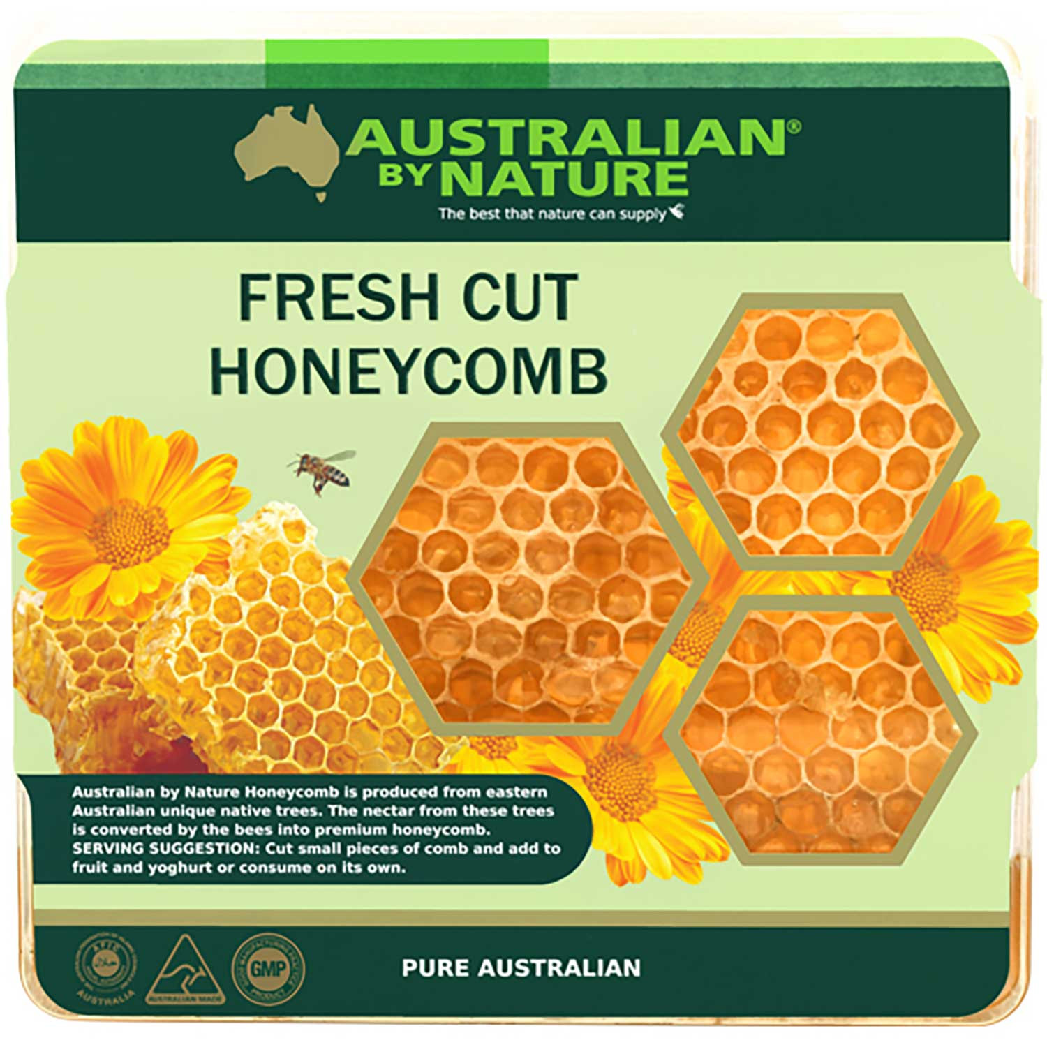 Australian By Nature Fresh Cut Honeycomb, 400 g