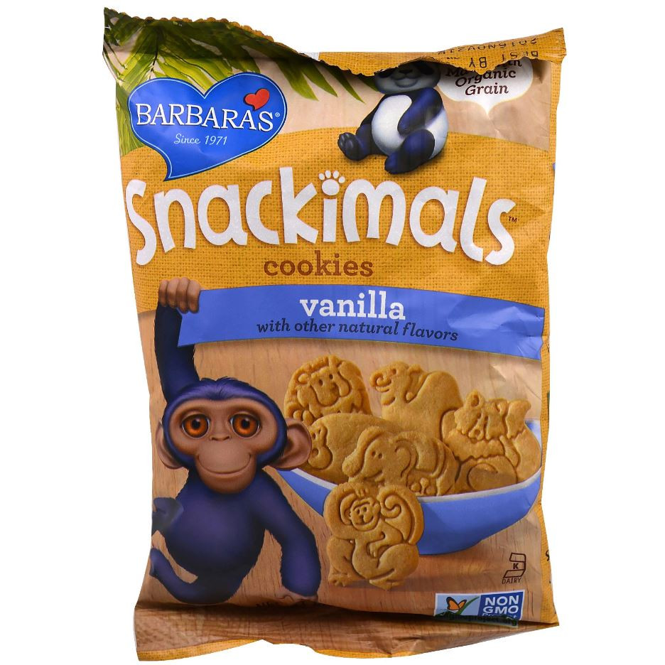 Barbara's Bakery Snackimals Animal Cookies - Vanilla, 60g