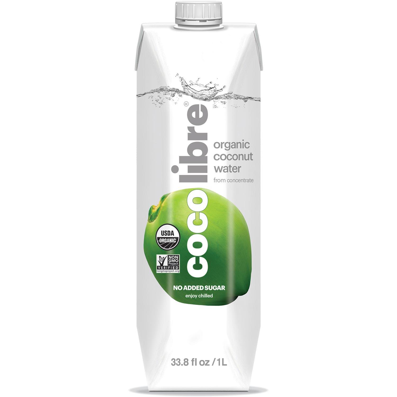 Coco Libre Pure Organic Coconut Water (>95% Organic), 1 L