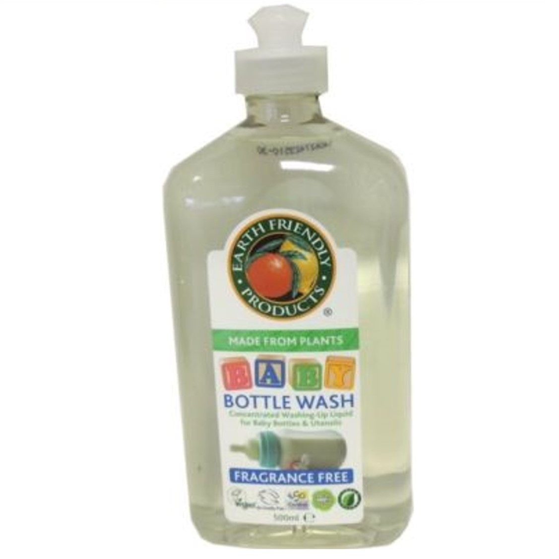 Earth Friendly Baby Bottle Wash, 500ml