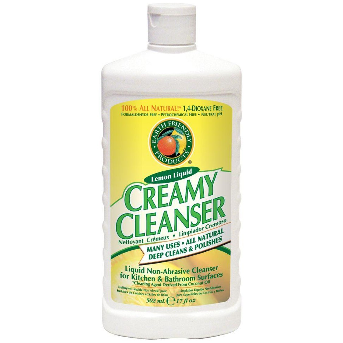 Earth Friendly Creamy Cleanser Natural Lemon, 500ml