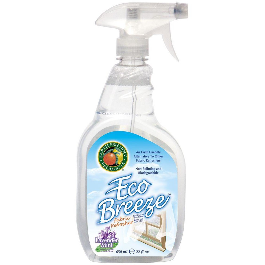Earth Friendly Eco Breeze Fabric Refresher Lavender Mint, 650ml