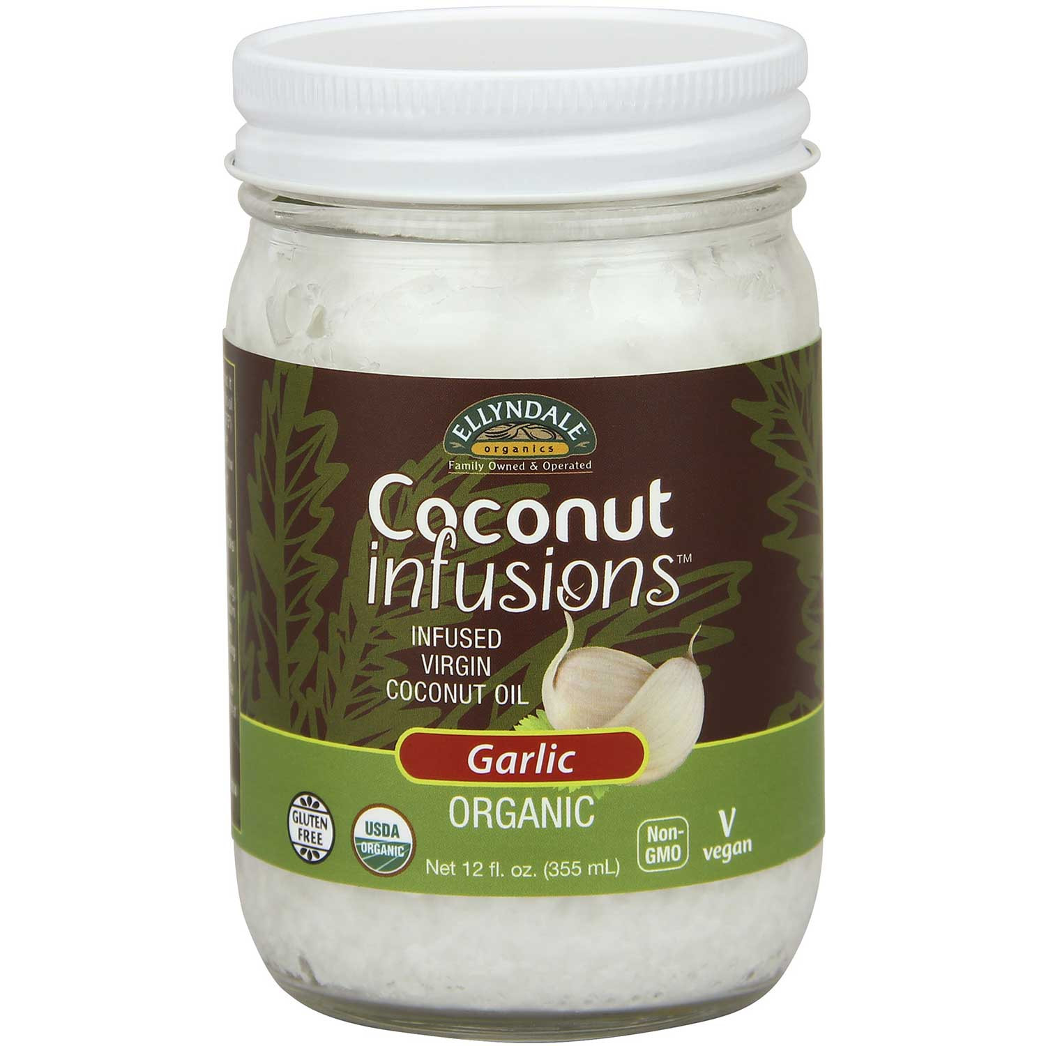 Ellyndale Foods Organic Coconut Oil Infusions - Garlic, 355 ml