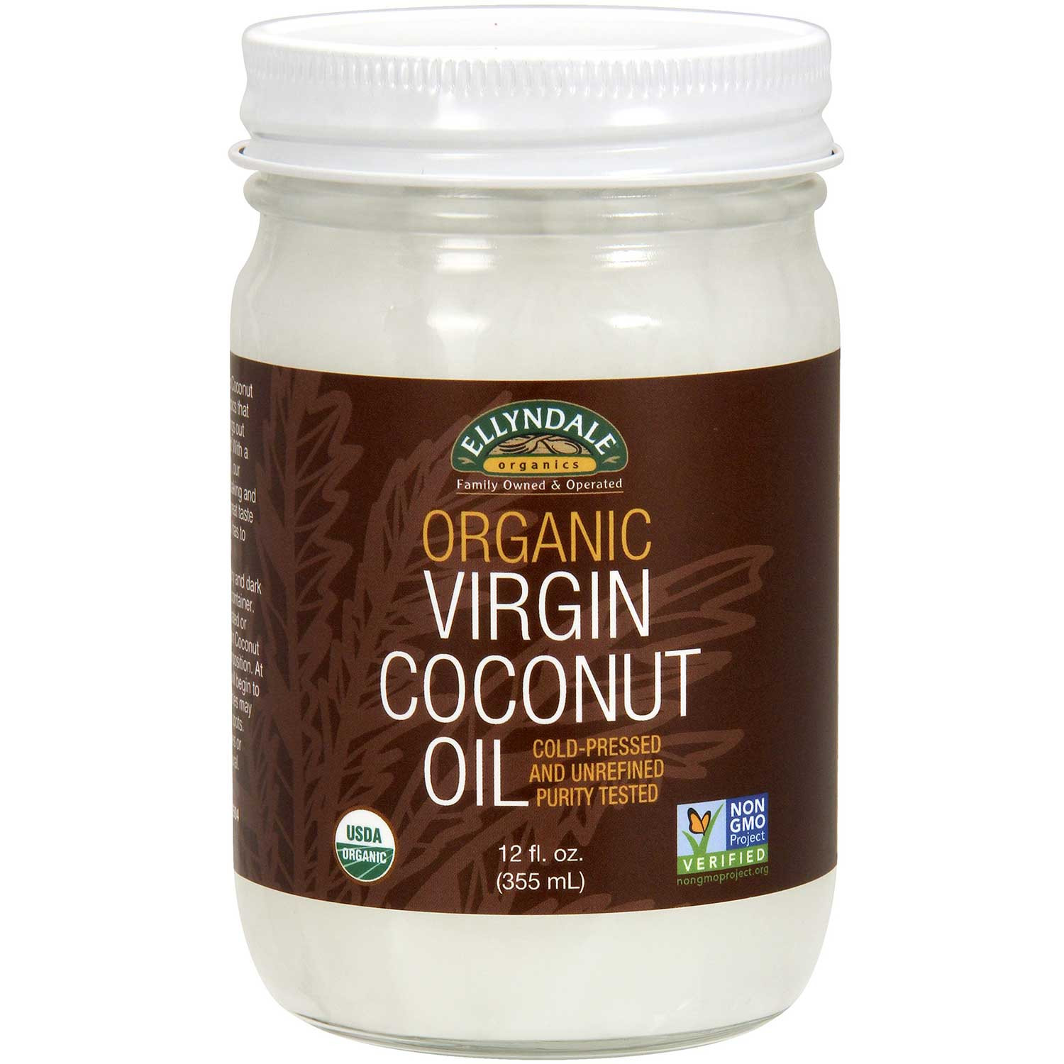 Ellyndale Foods Organic Virgin Coconut Oil (Glass Jar), 355ml