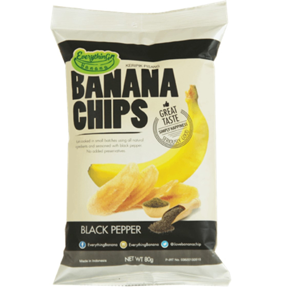 Everything Banana Chips - Black Pepper, 80g