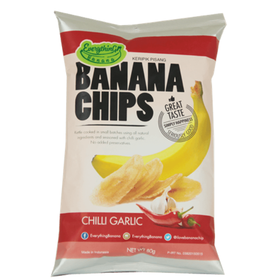 Everything Banana Chips - Garlic Chilli, 80g