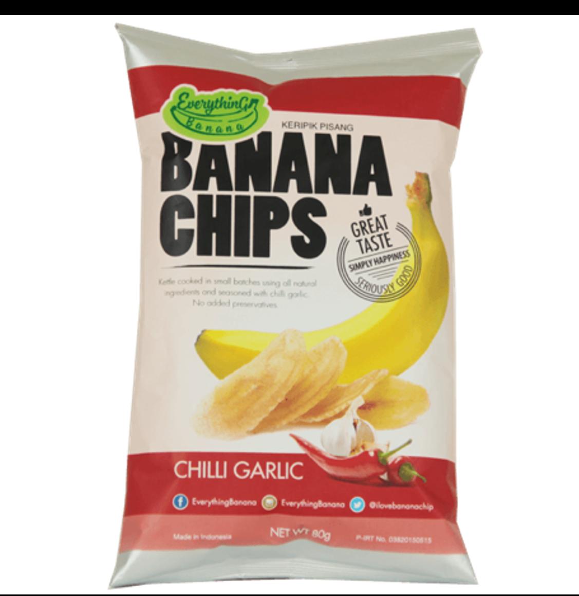Everything Banana Chips - Garlic Chilli, 80g