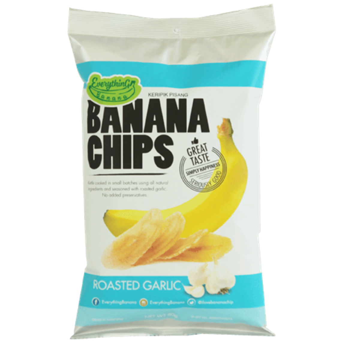 Everything Banana Chips - Roasted Garlic, 80g