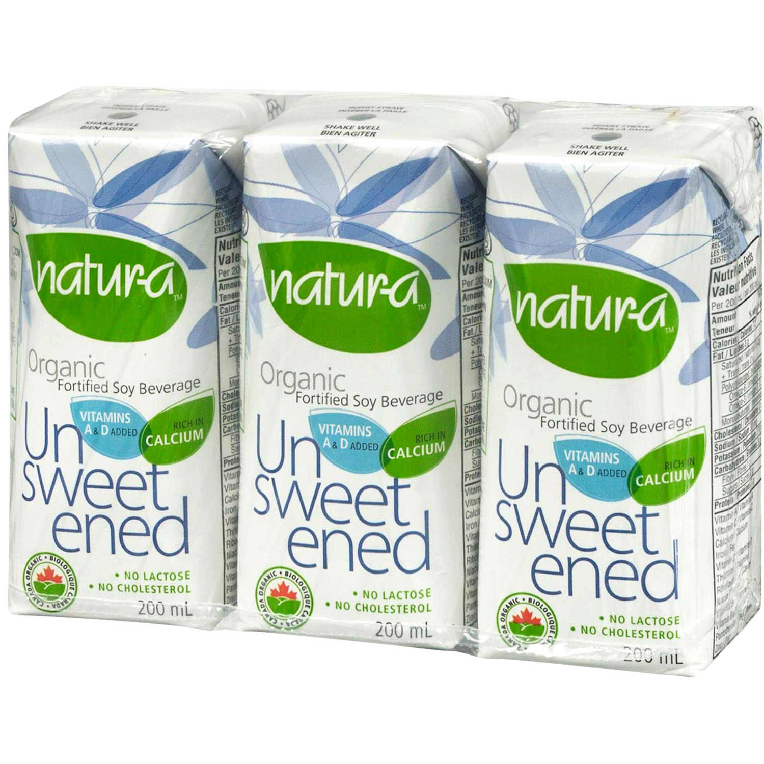 Natur-a Enriched Soy Beverage - Unsweetened (Organic), 200 ml