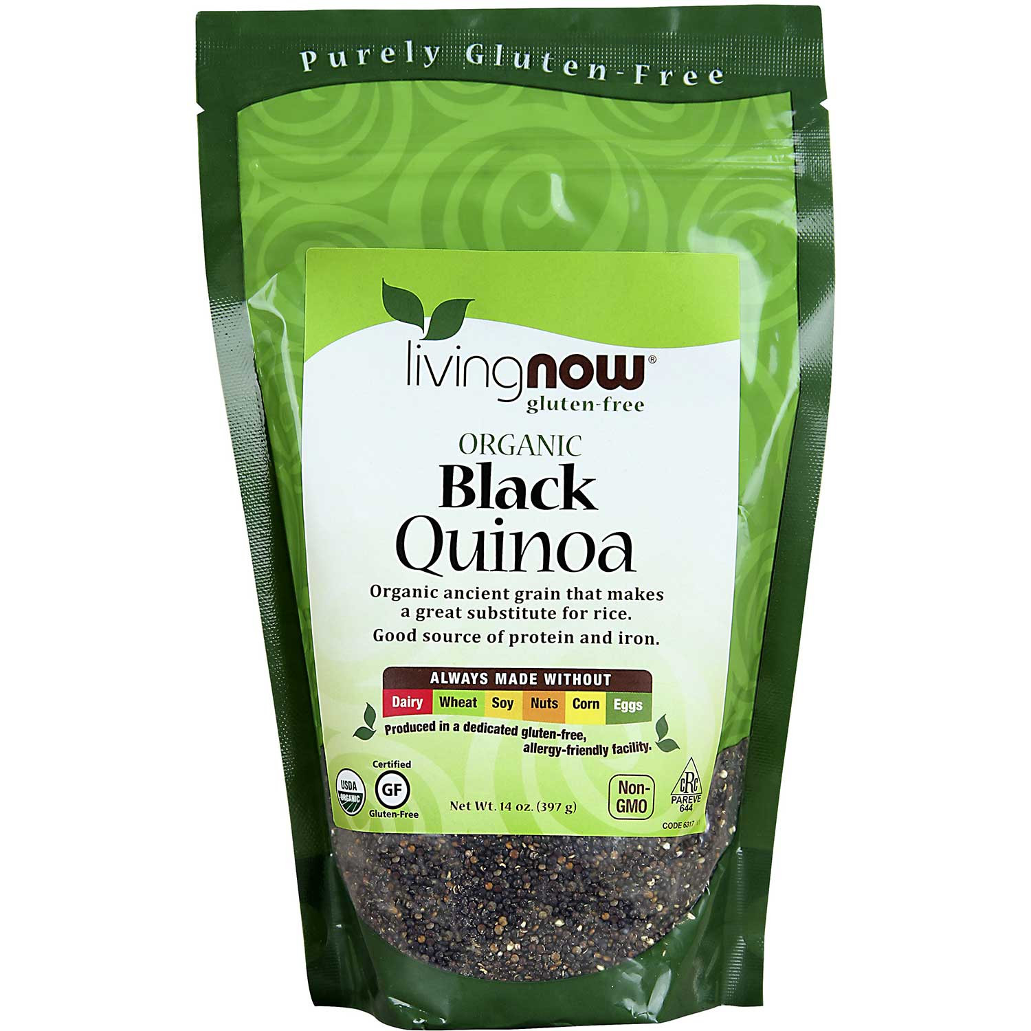 NOW Living NOW Organic Quinoa Grain - Black, 397g