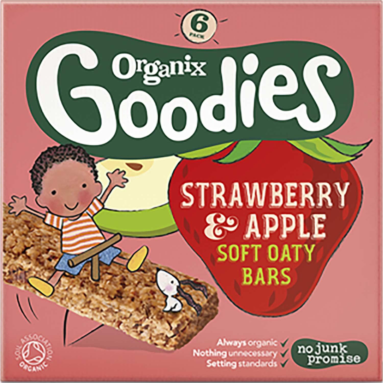 Organix Goodies Organic Soft Oaty Bars - Strawberry & Apple, 6 x 30 g