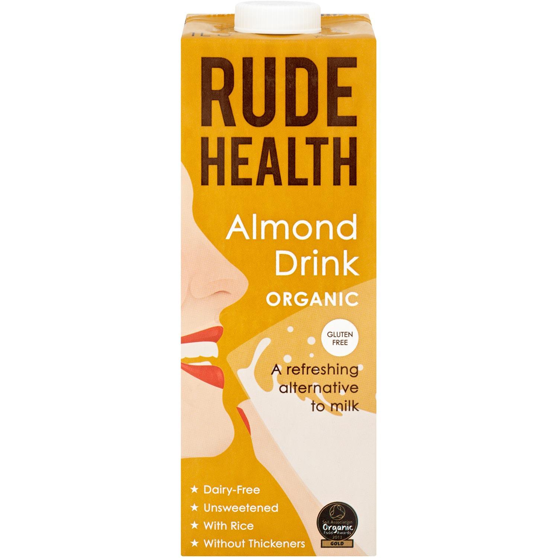 Rude Health Organic Dairy-free Drink - Almond (Gluten Free), 1 L