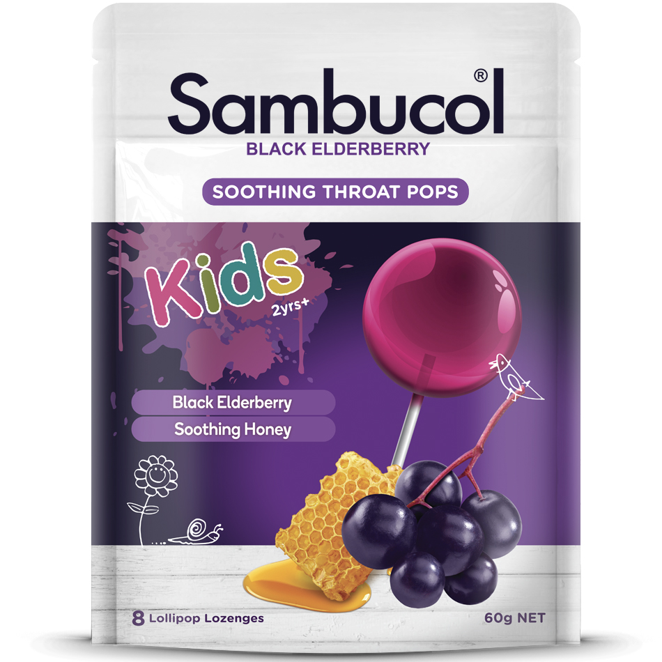 Sambucol® Soothing Throat Pops for Kids