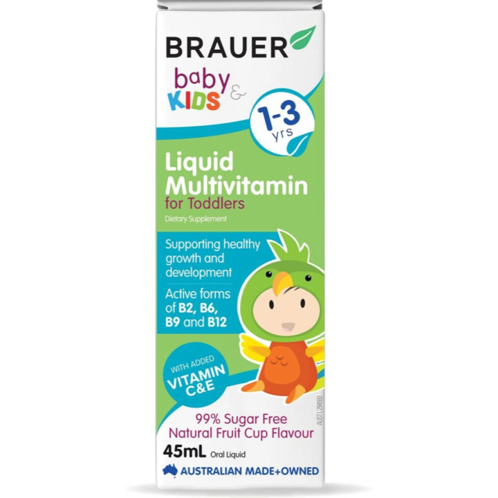 Brauer Baby and Kids Liquid Multivitamin, 45ml.