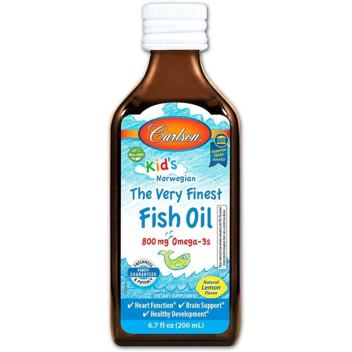 Carlson Kid's Norwegian The Very Finest Fish Oil-Lemon, 200ml.